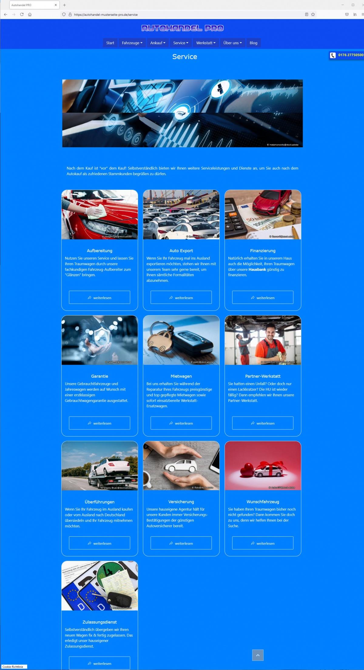 Panorama-Bild als optisches Titel-Element für Unterseiten