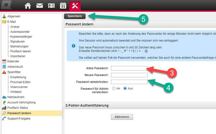 Email-Passwort erneuern