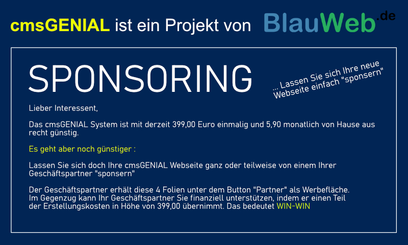 Bild 2 - Partner: BlauWeb.DE Internet Solutions